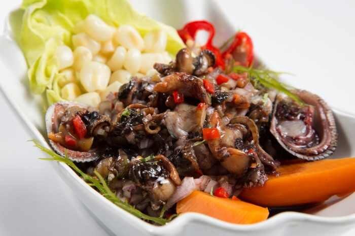 imagen plato ceviche de conchas negras tumbes