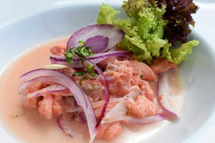 imagen del ceviche de salmon, receta de ceviche de salmon